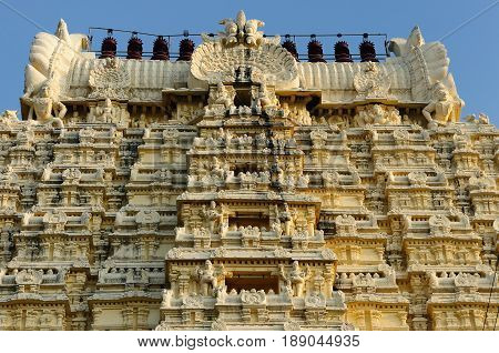 India Ekambareswarar Temple in Kanchipuram. Siva temple built in 1509 yars. Tamil Nadu