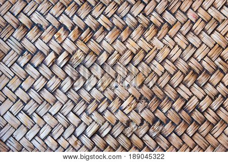 Rattan texture detail handcraft bamboo weaving texture background.