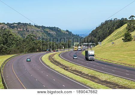 Many Vehicles On N3 Highway Entering And Leaving Pietermaritzburg