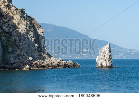 The swallows nest promontory in the black sea near Yalta