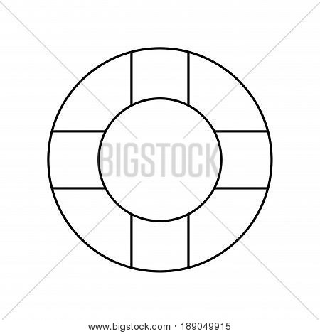 line lifebelt symbol to maritime rescue and protection vector illustration
