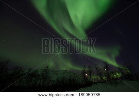 Northern Lights Near Lyfjord, Norway