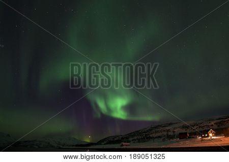 Northern Lights In Lyfjord, Norway