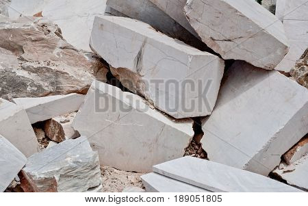 marble mound rubble stone Industry natural background