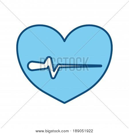 heartbeat sign of cardiac rhythm frequency vector illustration