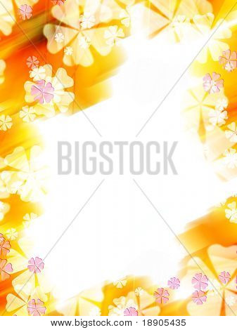 Abstract colorful flower border