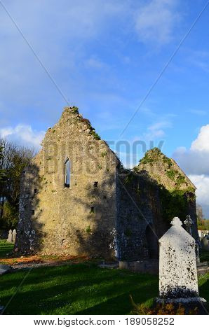 The ruins of the friary in Adare Ireland.