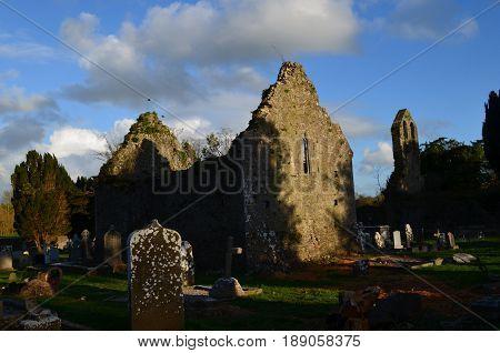 Ruins of old monastery in Adare Ireland.