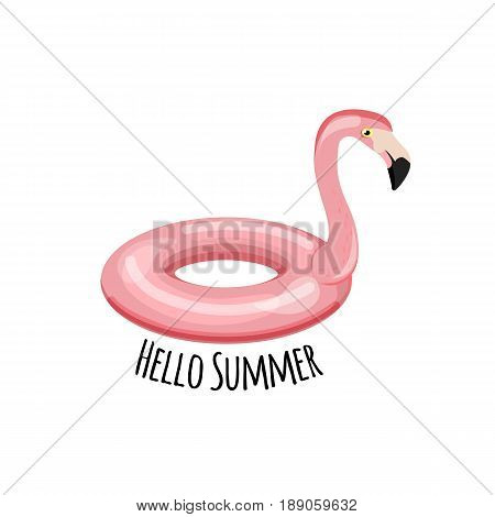Swim Ring. Shape Of Flamingo. Vector Illustration. Cartoon Illustration Of Swim Ring Vector Icon. Po