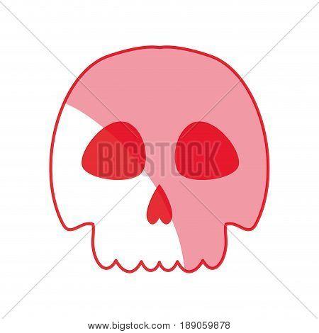 silhouette skull danger and caution alert vector illustration