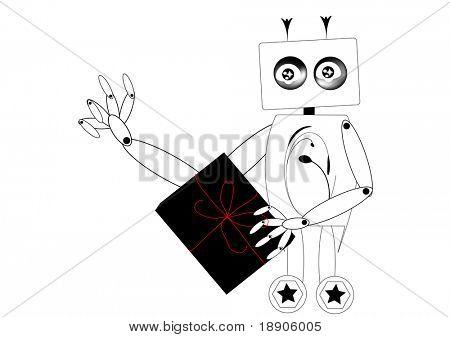 Robot sending a gift