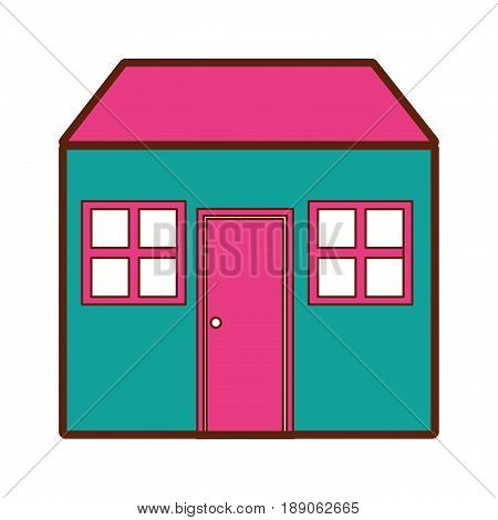home house isolated icon vector illustration design