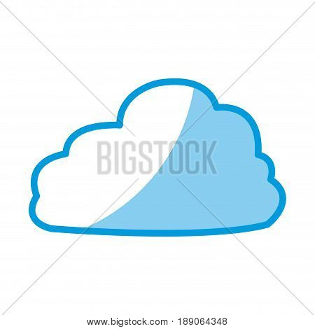 fluffy cloud weather heaven sky cottony icon vector illustration