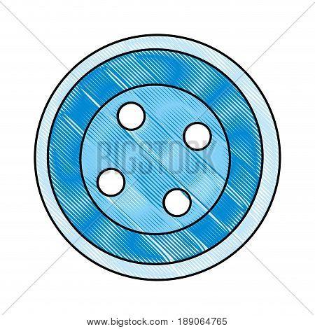 cute button clothes icon vector illustration design