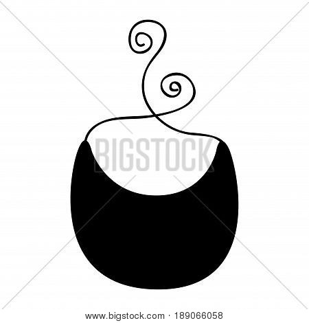 cute baby bib icon vector illustration design