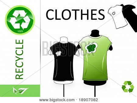 Please recycle clothes poster