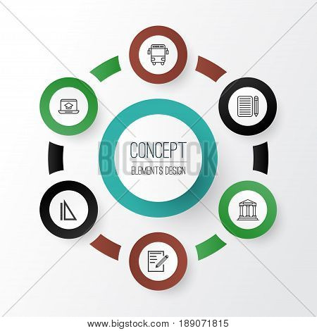 Interview Essay Paper Education Icons Set Collection Of Measurement Distance Learning Paper  And Other Elements Compare And Contrast Essay On High School And College also How To Write A Thesis Sentence For An Essay Education Icons Set Vector  Photo Free Trial  Bigstock History Of English Essay