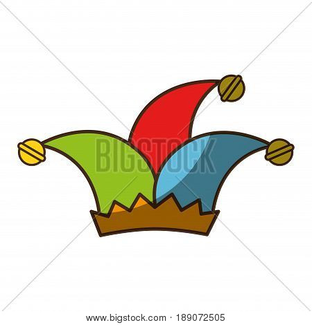 Jester hat accesory icon vector illustration graphic design