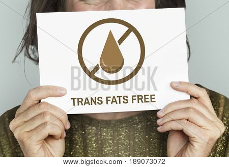 Trans Fats Free Healthy Lifestyle Concept
