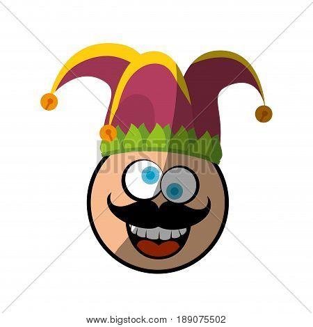 Jester clown cartoon icon vector illustration graphic design