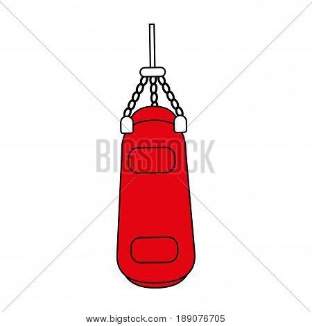 punching bag illustration vector icon design graphic flat