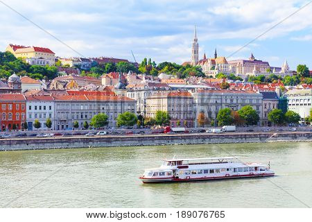 Hungary. Budapest. View on Buda. In the background the Matthias Church