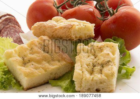 Italian Rustic Appetizer, Tasty Focaccia