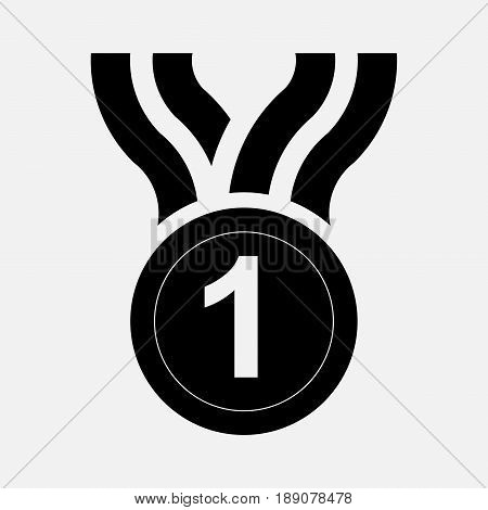 Icon medal prize first place the icon Primo winner fully editable vector image