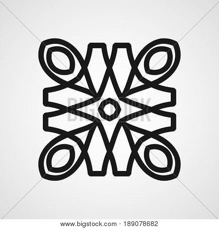 Ornamental Black Logo Template Design. Vector Symbol