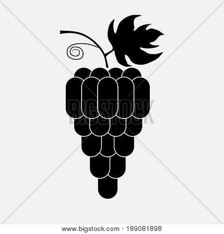 Icon nintendo grapes winemaking viticulture stock polnostju vector image editing
