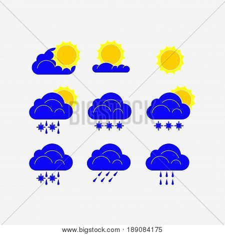 icons for weathe meteorology editable vector image