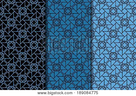 Arabic ornaments. Blue vintage seamless pattern for textile and wallpaper. ector illustration