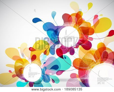 Random colorful bubbles with place for your text.