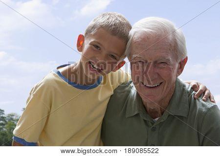Caucasian man with grandson