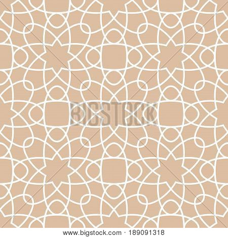 Arabic ornaments. Brown vintage seamless pattern for textile and wallpaper. ector illustration