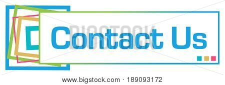 Contact us text written over abstract colorful background.