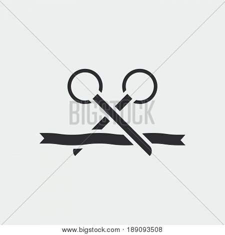 Scissots icon opening ceremony vector illustration .