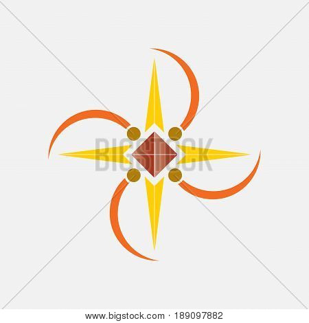 Abstract star logo company logo icon company logo