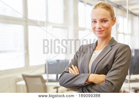 Young woman as self confident business consultant or lawyer