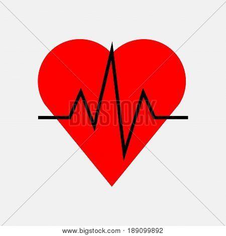 icon impulse of the heart cardiology health fully editable vector image