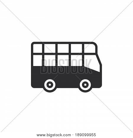City tour bus icon vector filled flat sign solid pictogram isolated on white. Double decker symbol logo illustration. Pixel perfect