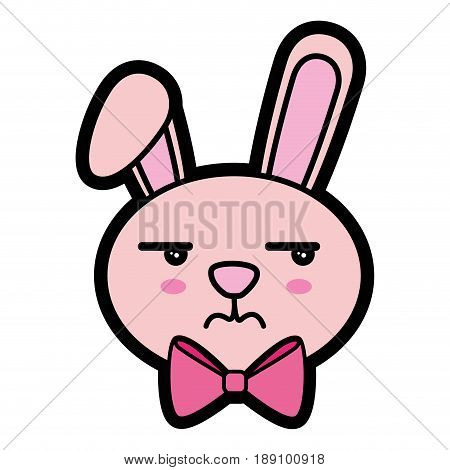 Bunny kawaii cartoon icon vector illustration graphic design