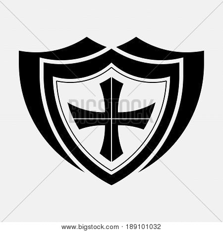 icon shield protection safety secure icon icon shield fully editable vector image