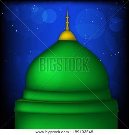 illustration of mosque on occasion of Eid Milad Un nabi Mubarak