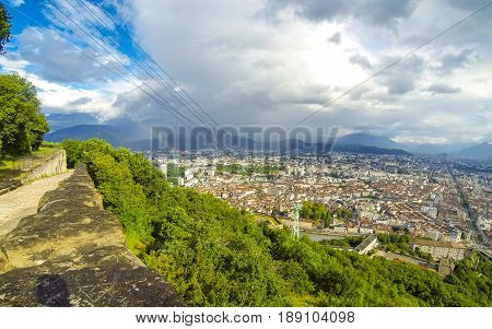 Picturesque Aerial View Of Grenoble, France