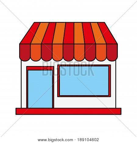 color image cartoon facade shop store vector illustration