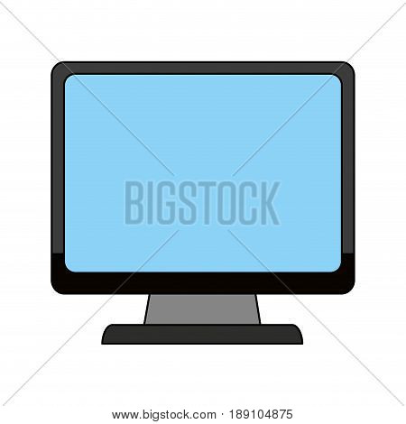 color image cartoon front view computer display vector illustration