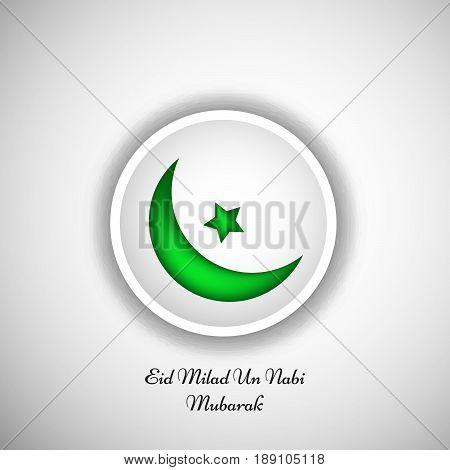 illustration of moon and star with Eid Milad Un nabi Mubarak text