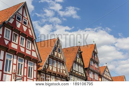 Rooftops Of Half-timbered Houses In Celle