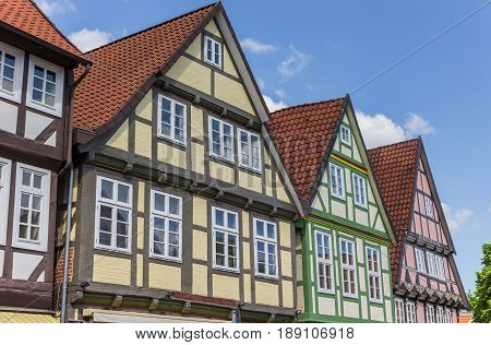 Colorful Houses In The Historic Center Of Celle